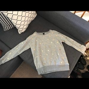 JCrew Heart Sweatshirt XXS